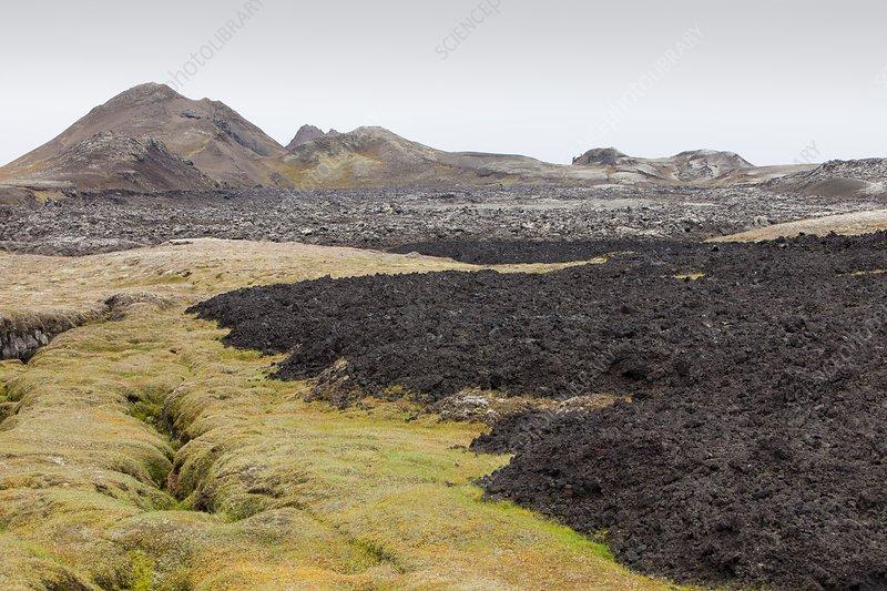 Lava flow, Iceland