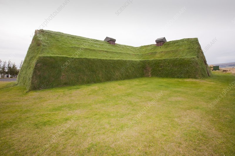 Reconstructed Viking long house
