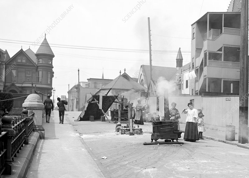 San Francisco street cooking, 1906