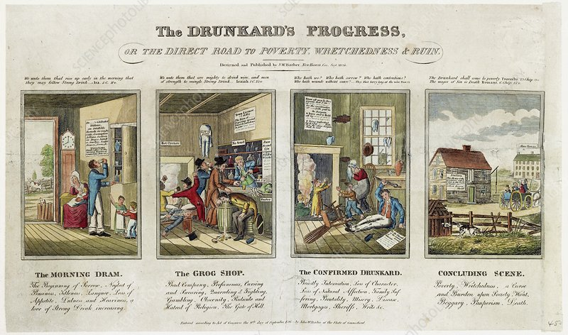 The Drunkard's Progress, 1820s