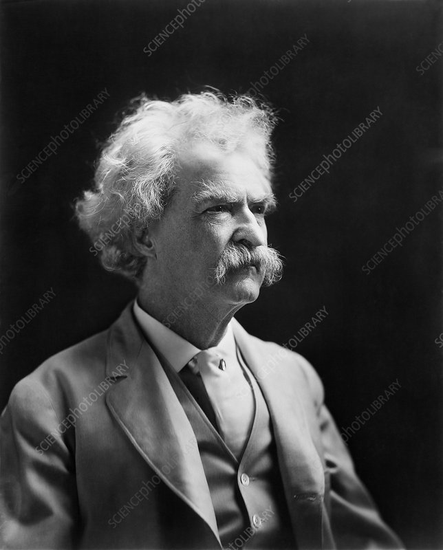 Mark Twain, US author