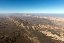 San Andreas fault, aerial photograph