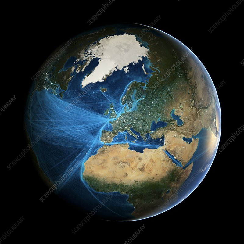 europe and the anthroposphere stock image c026 5136 science