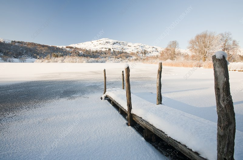 Grasmere, Lake District, UK, in winter