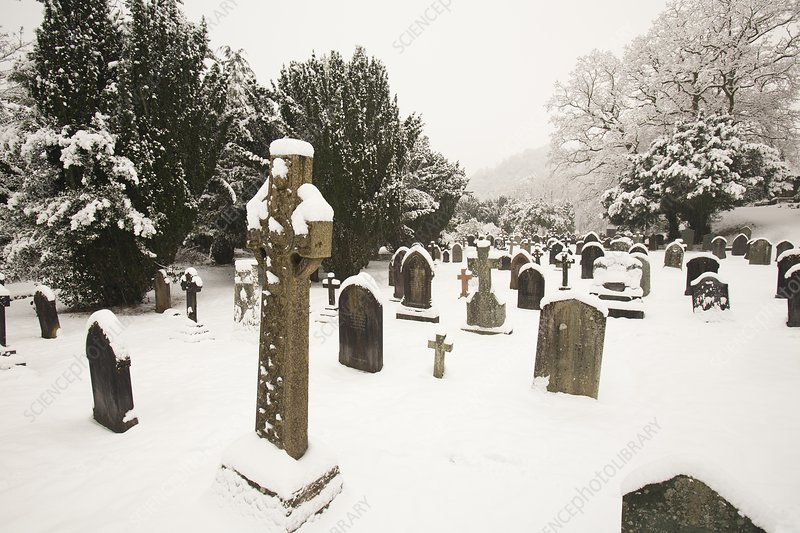 Church yard in snow