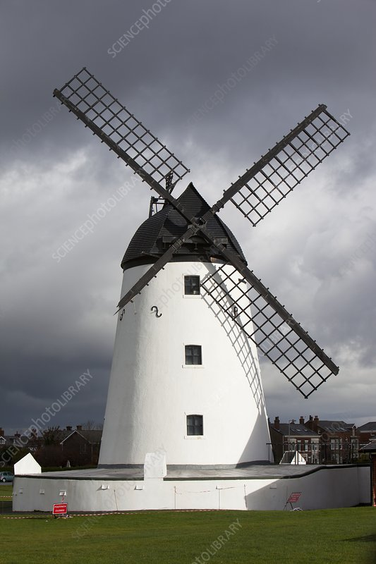 Storm damage to windmill