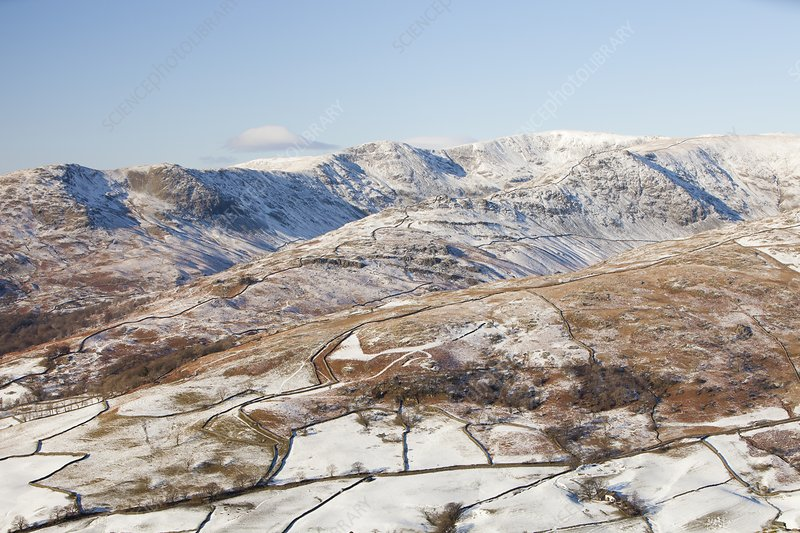 Fairfield, Lake District, UK, in winter