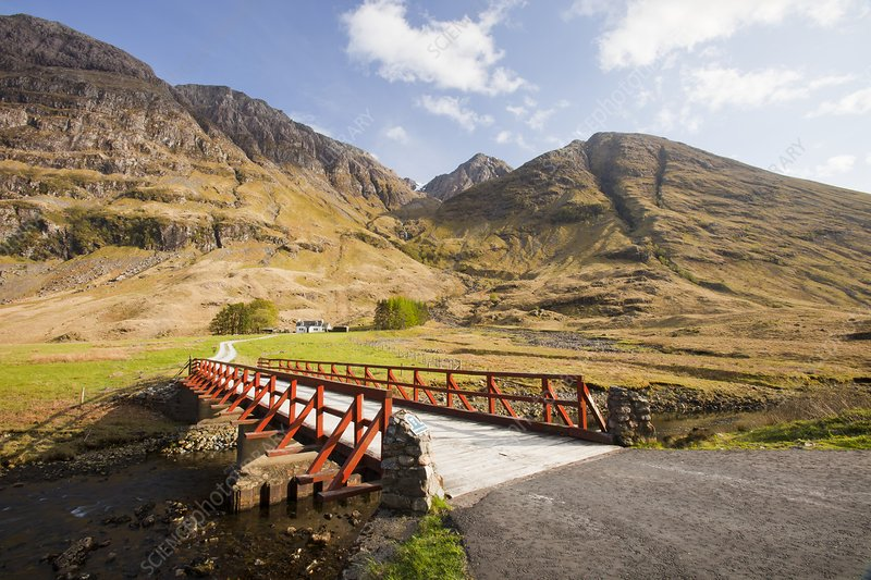 Bridge crossing the River Coe, Scotland