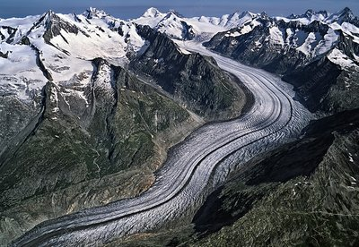 Aletsch Glacier, Valais, Switzerland