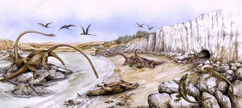 Prehistoric landscape, illustration