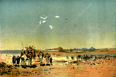 Desert mirage, 19th Century illustration