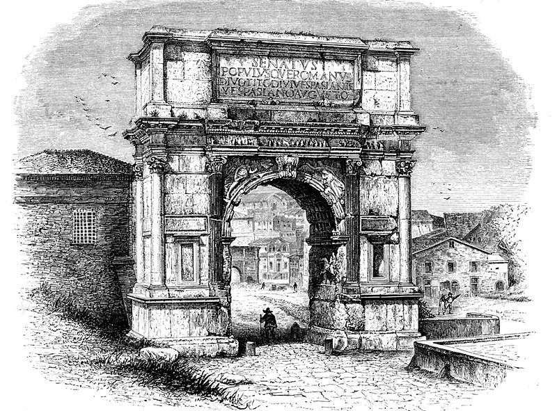 Arch of Titus, Rome, illustration