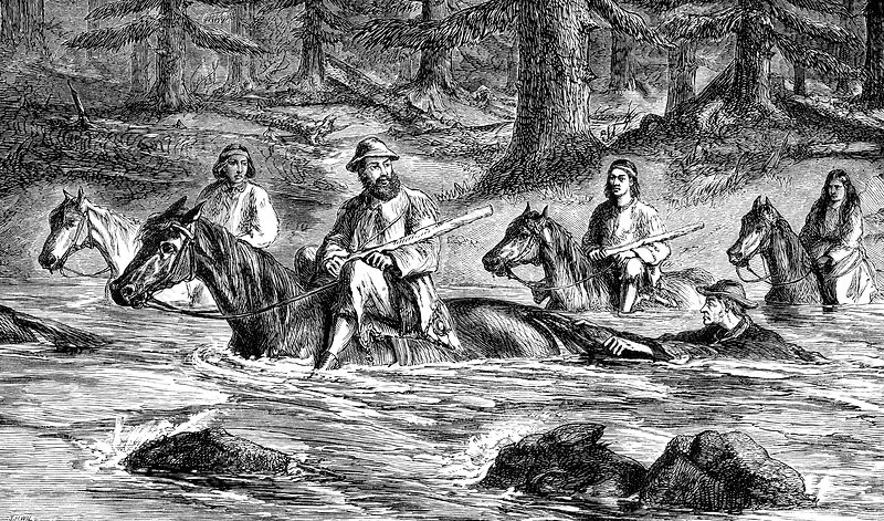 Gold miners, 19th Century illustration