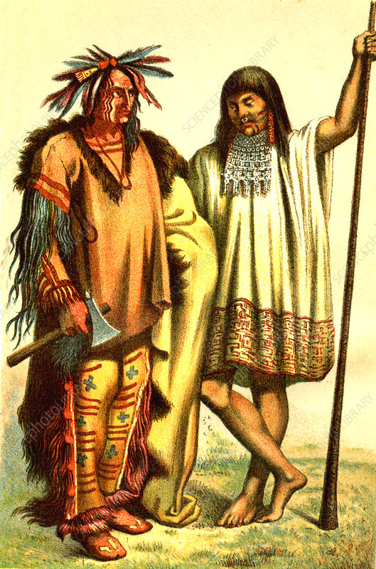 Native Americans, illustration