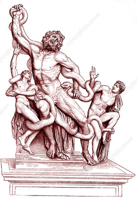 Death of Laocoon, illustration