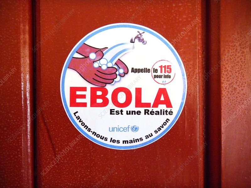 Ebola hygiene information sign