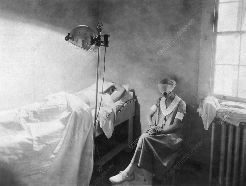 Phototherapy treatment, 20th century