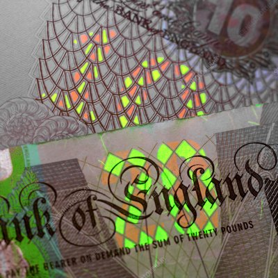 Fluorescent banknote printing