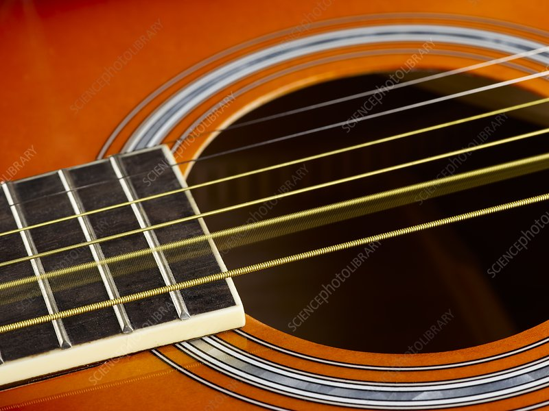 guitar strings at rest and vibrating stock image c026 6622 science photo library. Black Bedroom Furniture Sets. Home Design Ideas