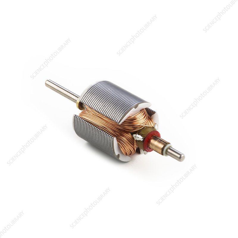 Dc Motor Armature Stock Image C026 6658 Science Photo Library