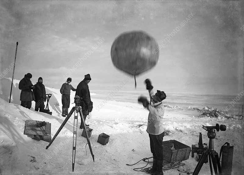 Antarctic weather balloon research, 1912