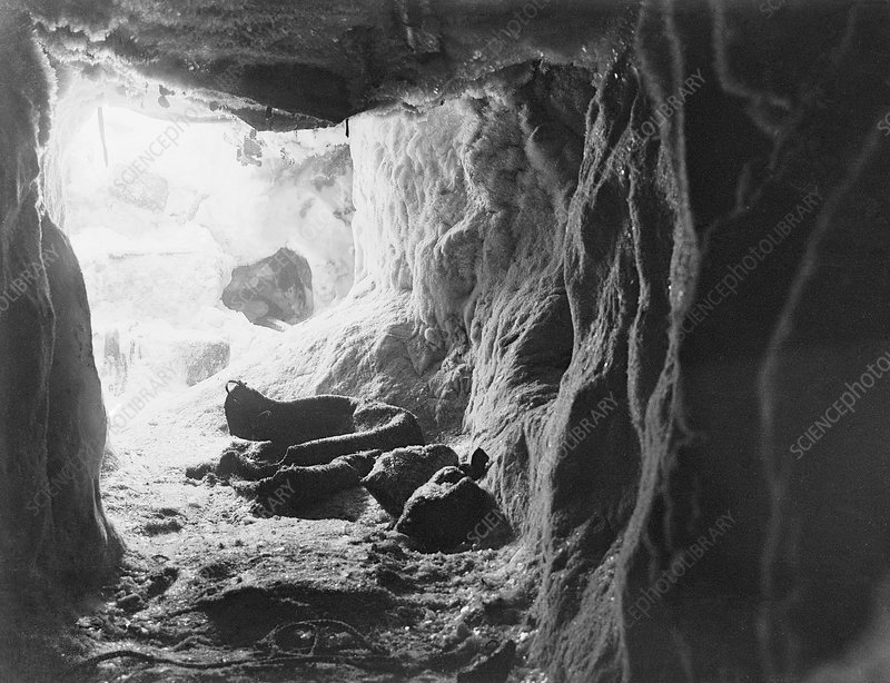 Northern Party Antarctic ice cave, 1912
