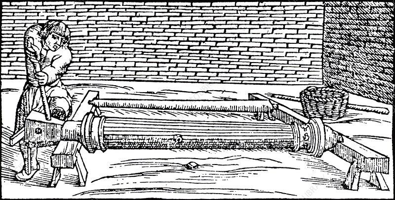 Casting gun barrels