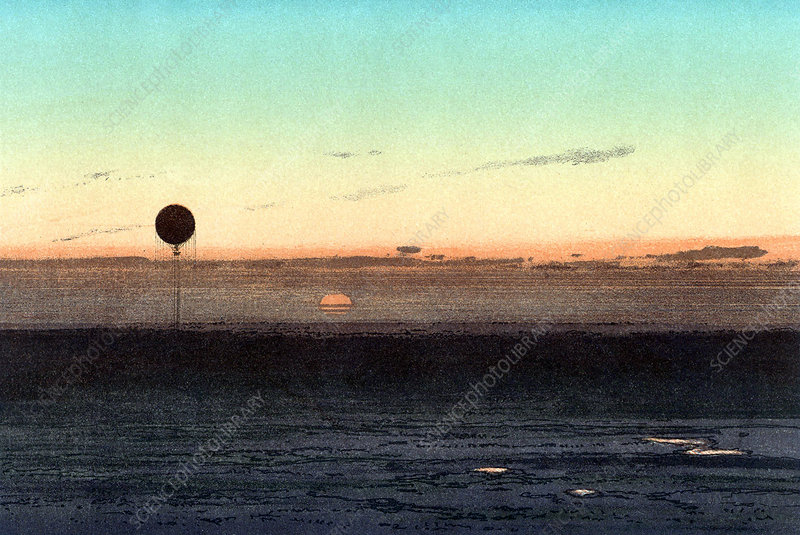 Gaston Tissandier's balloon silhouette