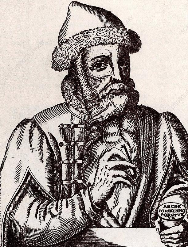 Johann Gutenberg, German printer
