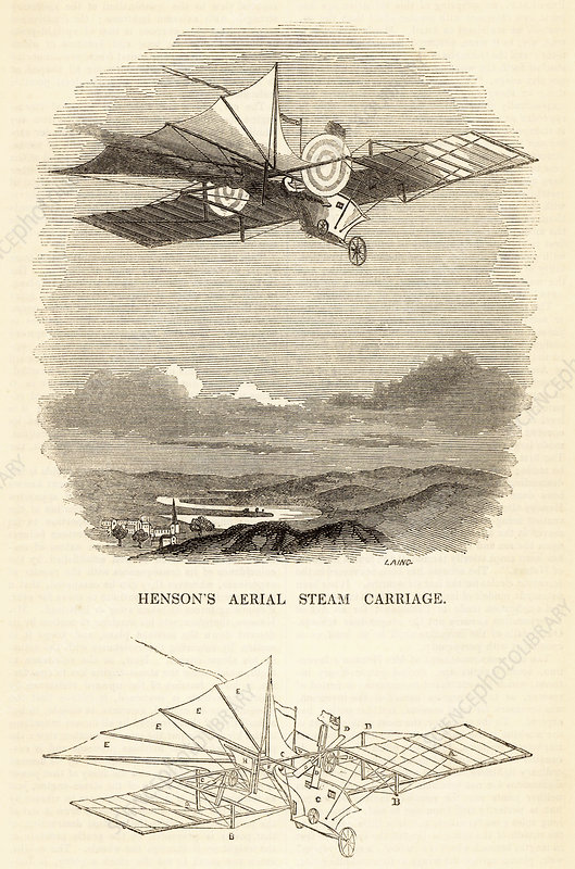 Design for the Aerial Steam Carriage