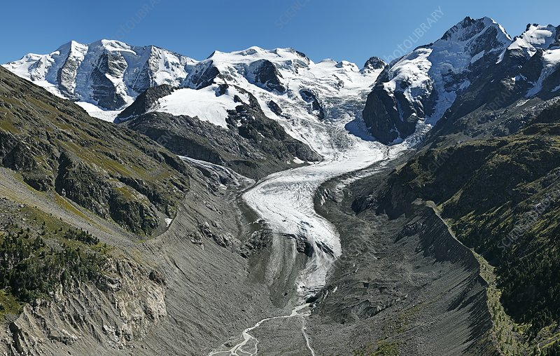 Morteratsch Glacier, Bernina, Switzerland