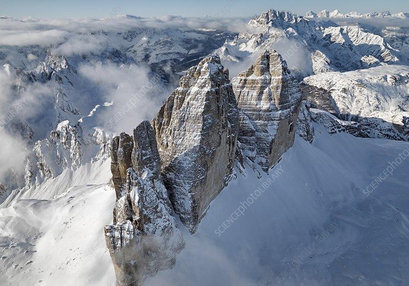 The Three Peaks of Lavaredo, Alps, Italy