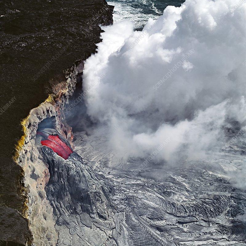 Lava tube, Kilauea volcano, Hawaii