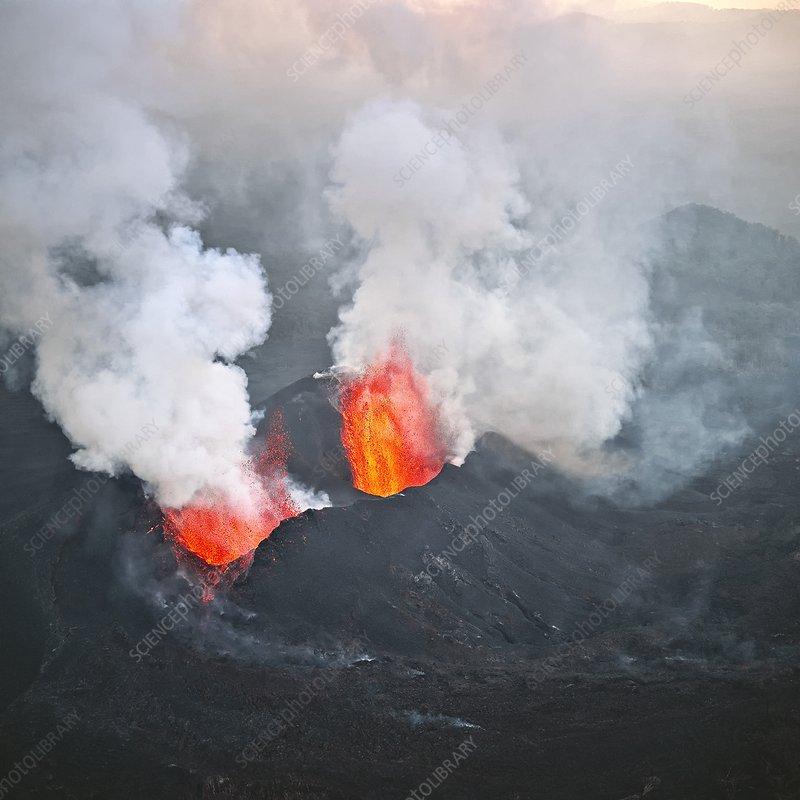 Nyamulagira volcano, Congo