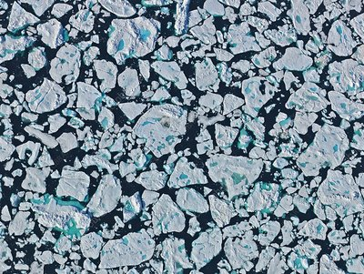 Sea ice floes, Greenland Sea