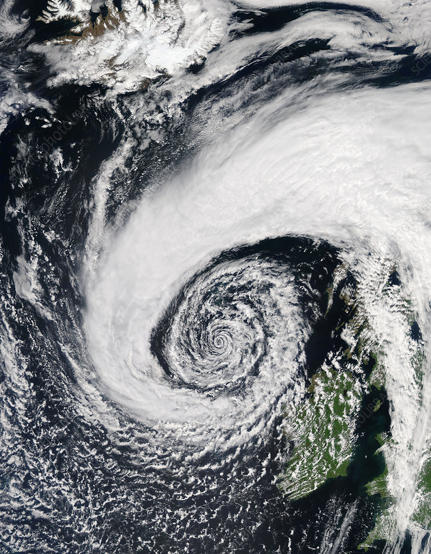 Low pressure system off of Ireland