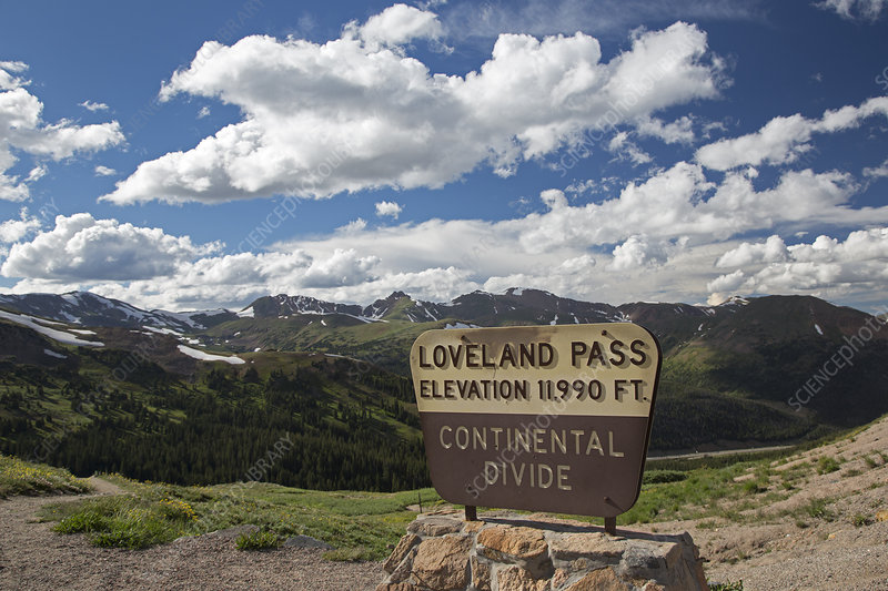 Continental Divide sign, Loveland Pass