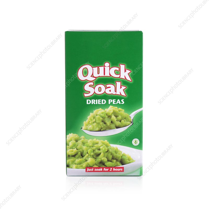 Packet of dried peas