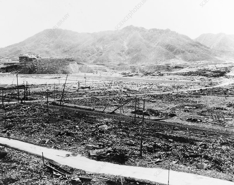 Nuclear destruction at Nagasaki, 1945