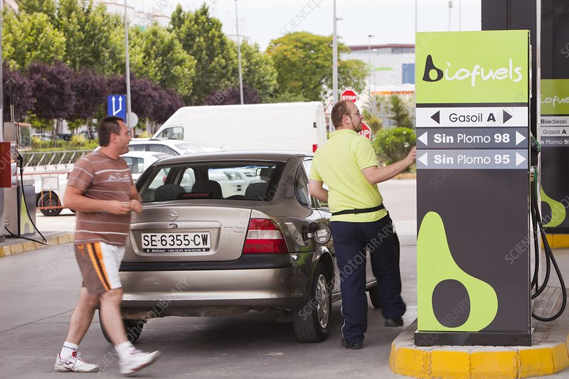 A bio fuel petrol station in Ecija, Spain