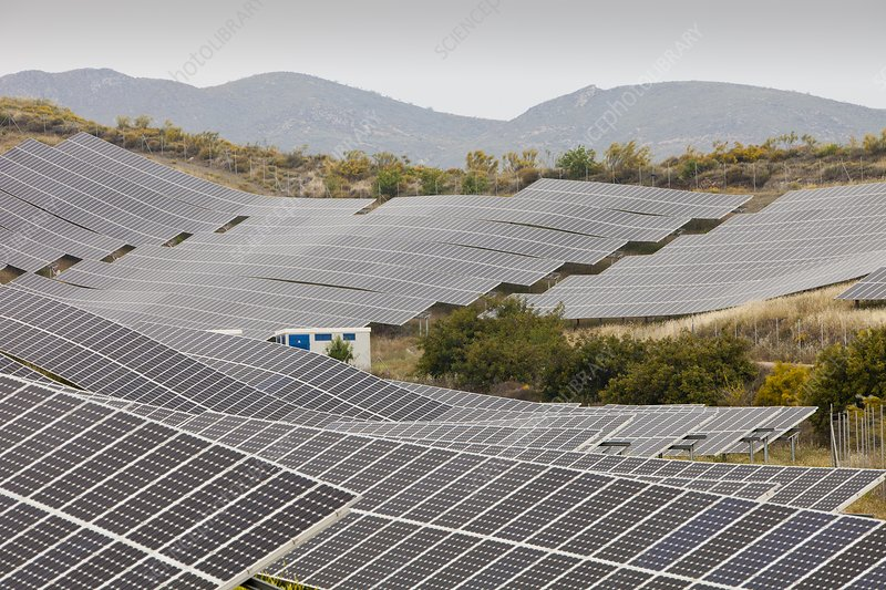 A photo voltaic solar power station
