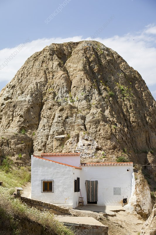 Old Cave houses in Guadix, Spain