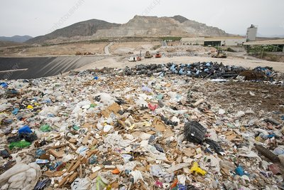 Rubbish on a landfill site