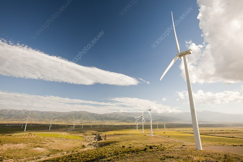 A wind farm near La Calahorra, Spain