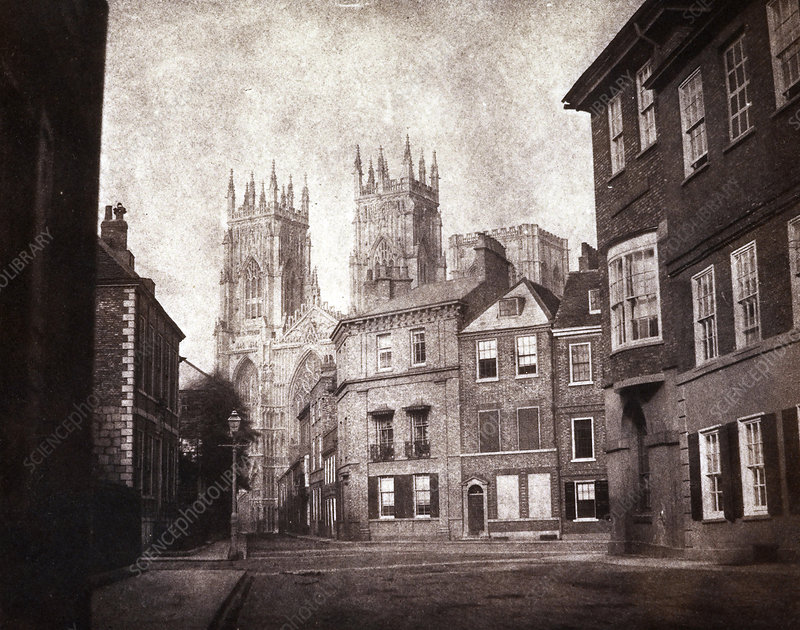 York Minster, 1840s calotype print