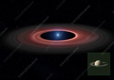 Debris ring around a white dwarf star