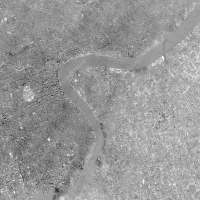 Shanghai, China, 1968 satellite photo