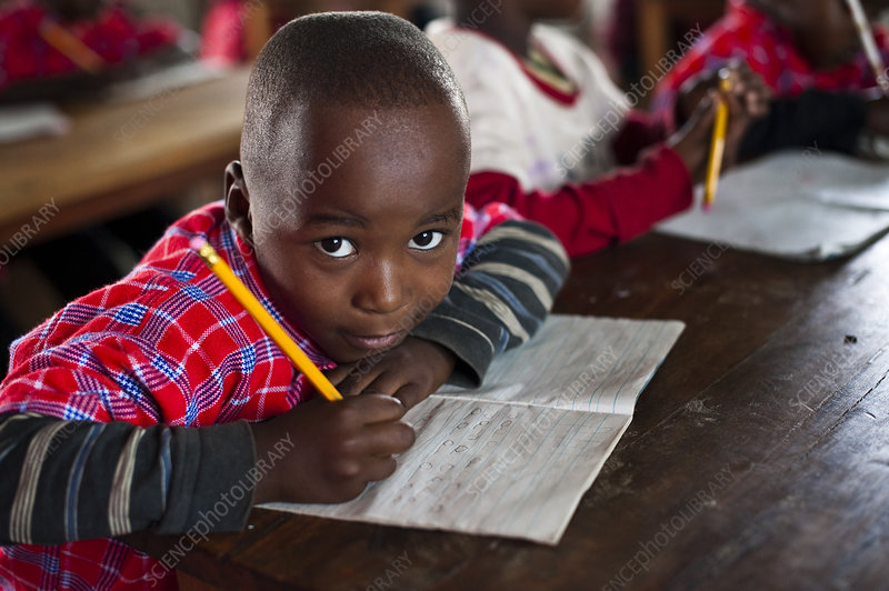A child in a literacy class, Tanzania