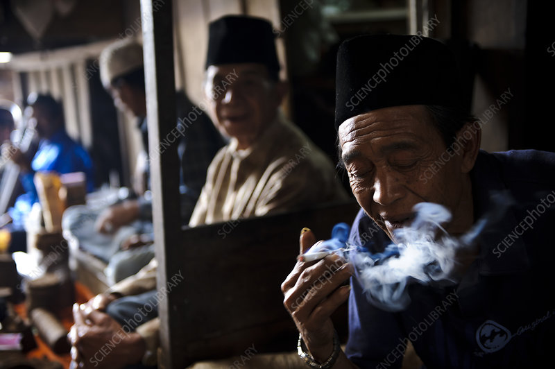 Man smoking, Indonesia