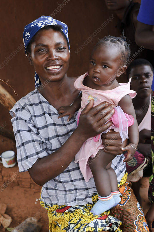 Woman and child, Zambia